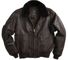 Куртка Alpha Industries G-1 Leather Brown 3XL
