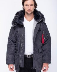 Куртка зимняя мужская Airboss Winter parka Dark Grey/Siver XXS - оригинал